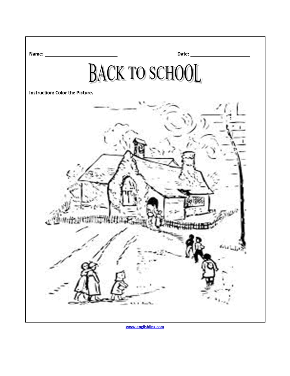 medium resolution of Englishlinx.com   Back to School Worksheets