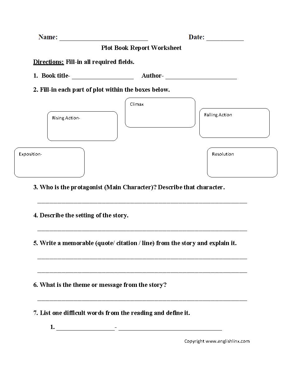 hight resolution of Reading Worksheets   Plot Worksheets
