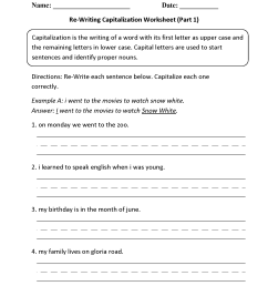 Englishlinx.com   Capitalization Worksheets [ 2200 x 1700 Pixel ]