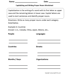 Englishlinx.com   Capitalization Worksheets [ 1144 x 884 Pixel ]