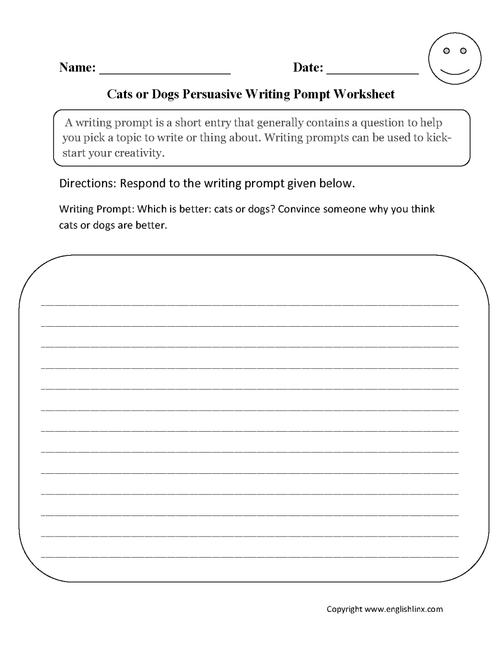 medium resolution of Writing Prompts Worksheets   Persuasive Writing Prompts Worksheets