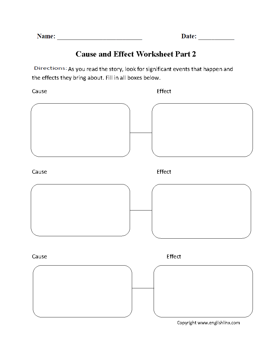 hight resolution of Cause and Effect Worksheets   Cause and Effect Three Pairs Worksheet