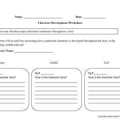 Character Analysis Worksheets   Single Character Development Character  Analysis Worksheets [ 1700 x 2200 Pixel ]
