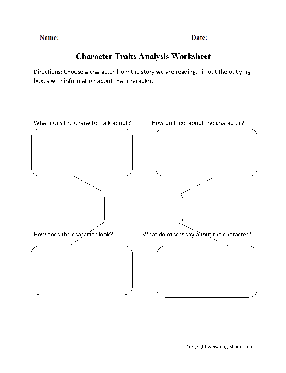 hight resolution of Reading Worksheets   Character Traits Worksheets