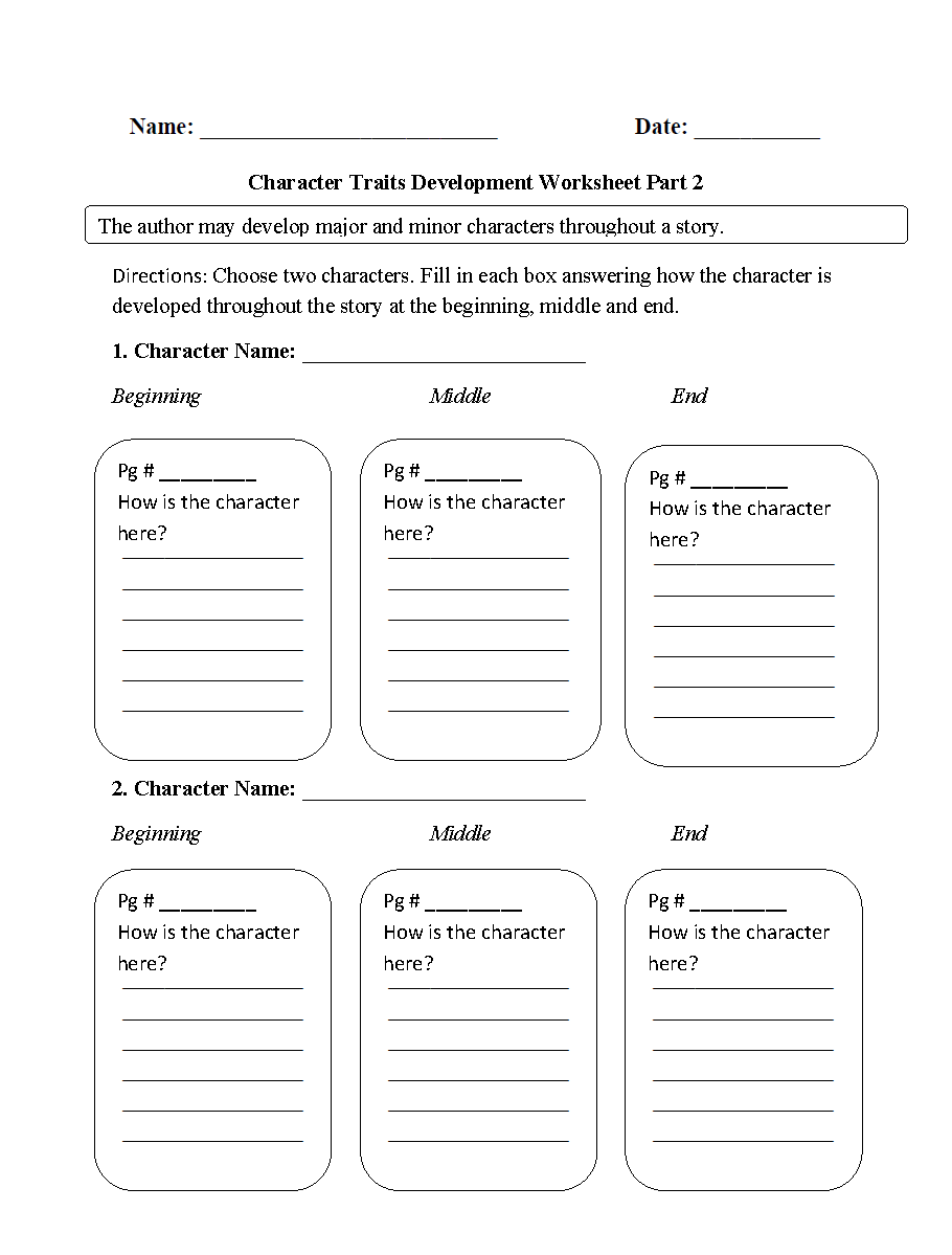 Character Types Worksheet 1 : character, types, worksheet, Character, Types, Worksheet, Project
