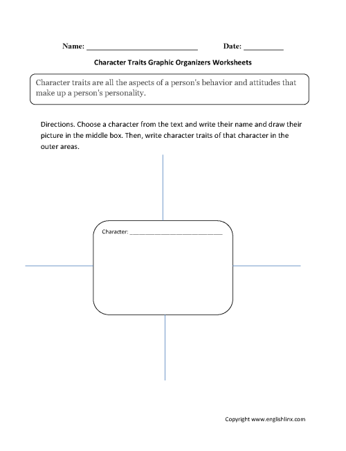 small resolution of Graphic Organizers Worksheets   Character Traits Graphic Organizers  Worksheets
