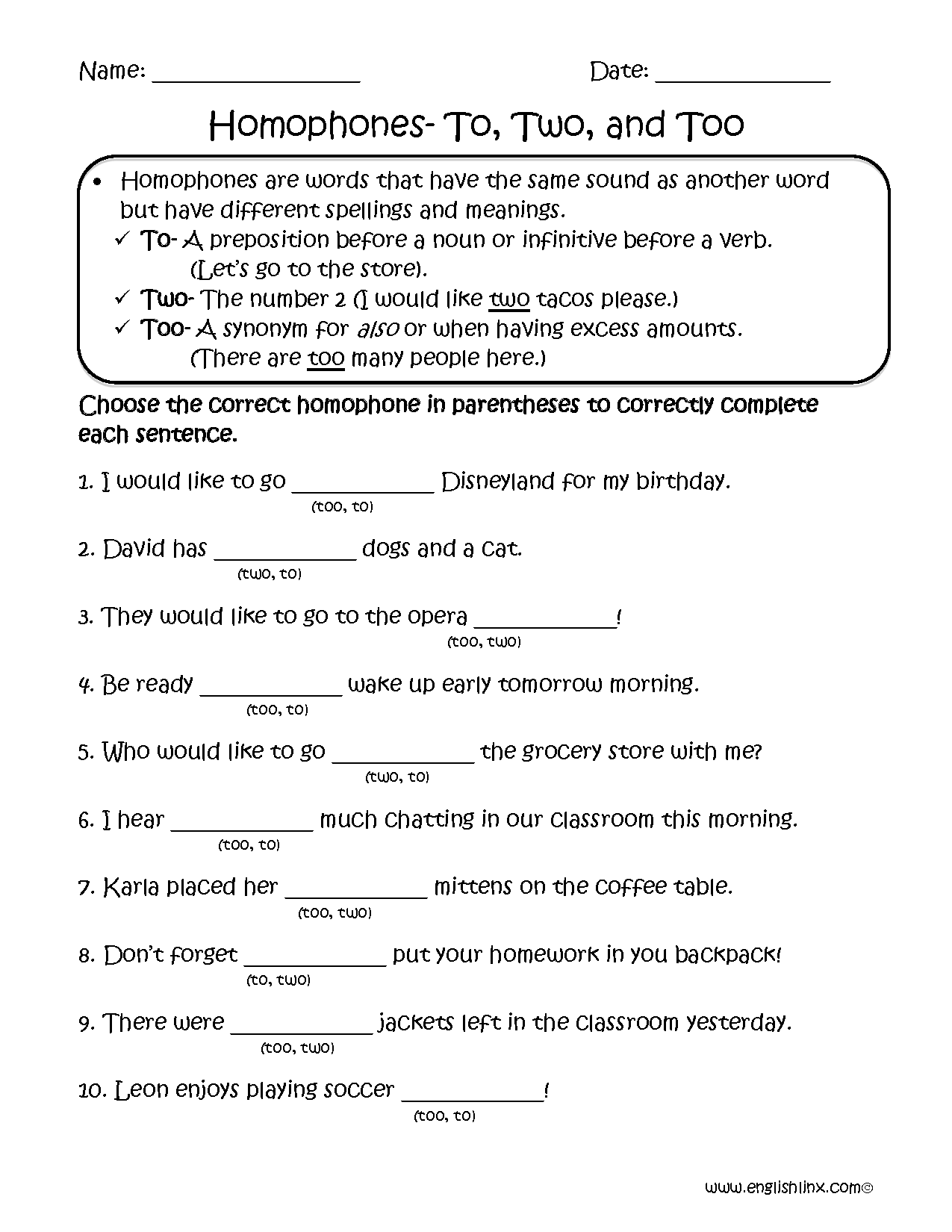 hight resolution of Englishlinx.com   Homophones Worksheets