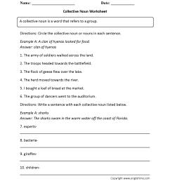 Parts Speech Worksheets   Noun Worksheets [ 2200 x 1700 Pixel ]