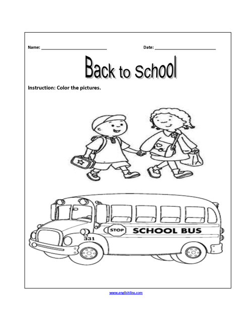 small resolution of Englishlinx.com   Back to School Worksheets