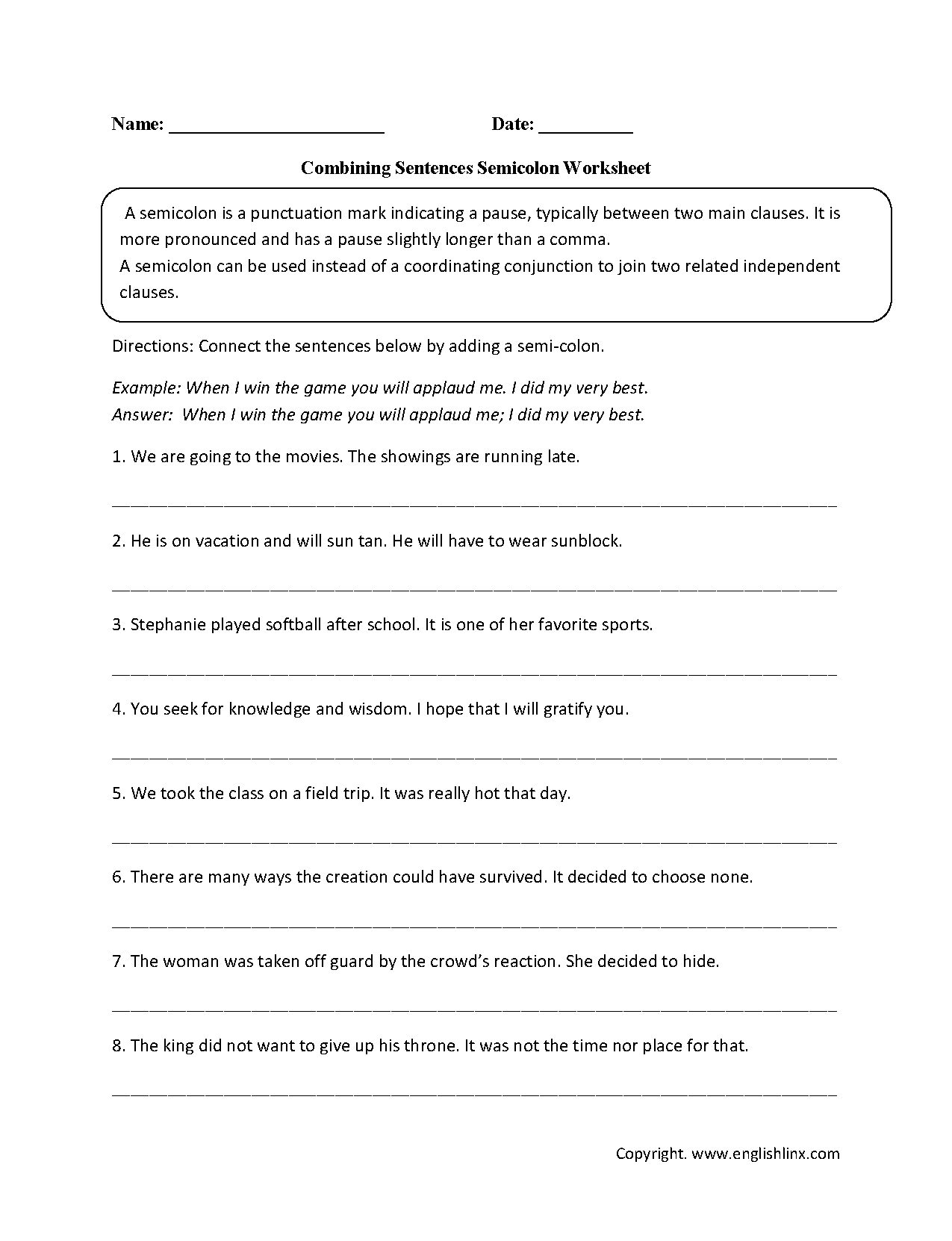 Worksheet Punctuation Worksheets High School Worksheet