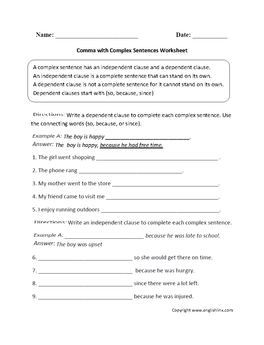 hight resolution of 30 Commas And Compound Sentences Worksheet - Free Worksheet Spreadsheet