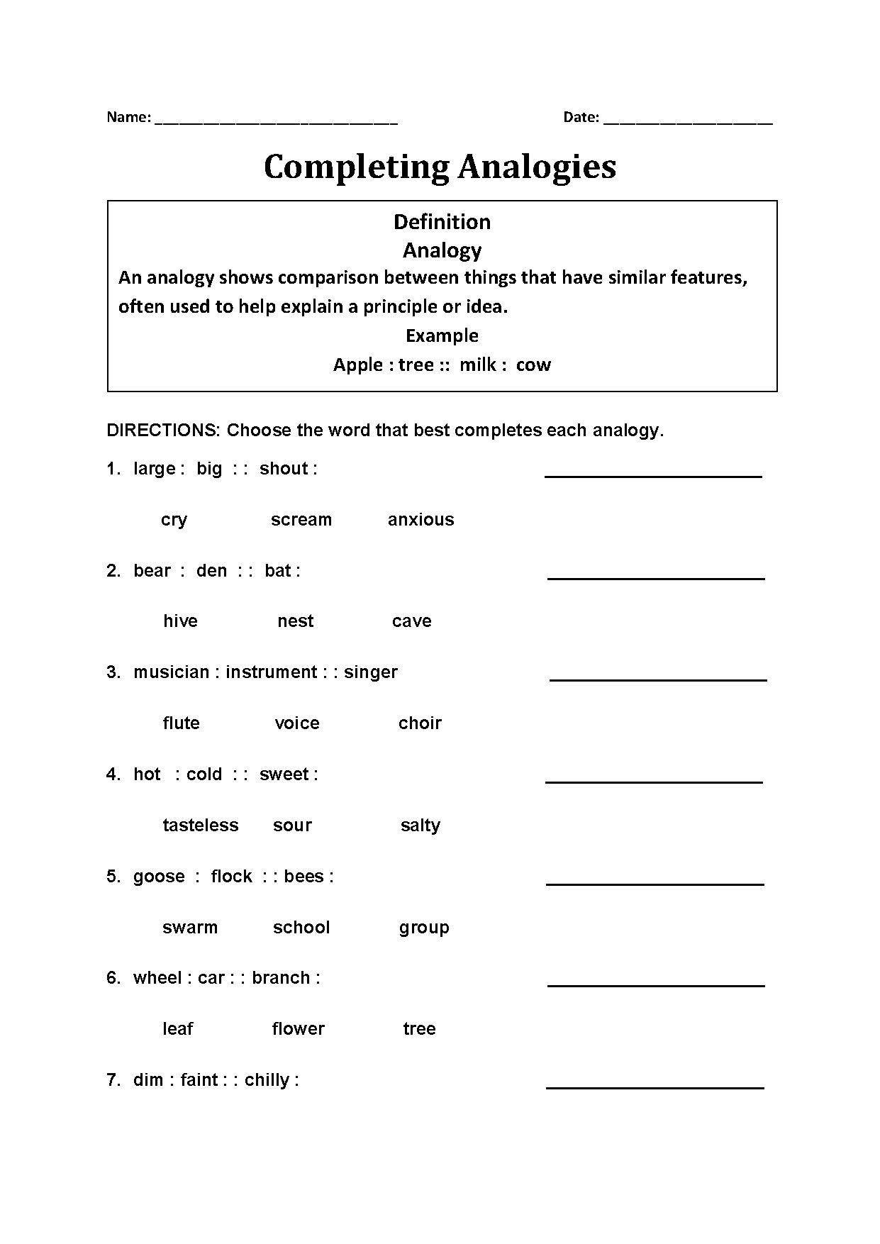 hight resolution of 26 7th Grade Analogies Worksheet - Worksheet Resource Plans