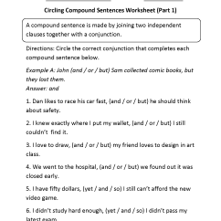 Diagramming Sentences With Conjunctions Simplicity Lawn Mower Wiring Diagram Complex Sentence Worksheets For 3rd Grade