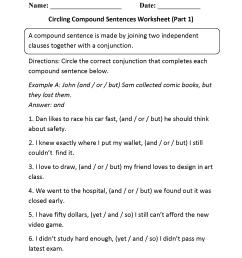 Sentences Worksheets   Compound Sentences Worksheets [ 2200 x 1700 Pixel ]