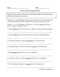 Context Clues Worksheets | Context Clues Worksheets Part 1 ...