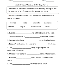 Englishlinx.com   Context Clues Worksheets [ 1188 x 910 Pixel ]
