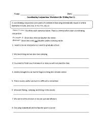 Coordinating Conjunctions Worksheet   www.pixshark.com ...
