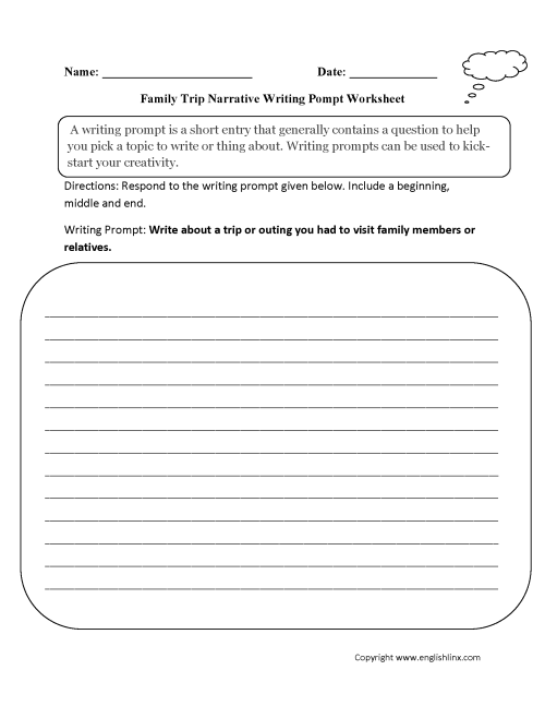 small resolution of Cool Writing Prompts For 6th Grade - Writing Topics