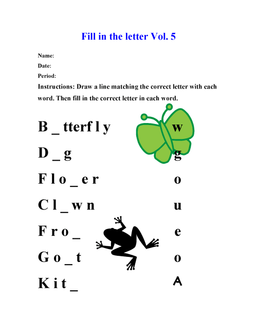 small resolution of English Worksheets   Spelling Worksheets