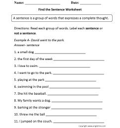 Sentence Structure Worksheets   Sentence Building Worksheets [ 2200 x 1700 Pixel ]