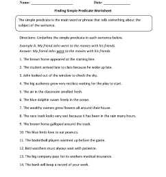 Parts of a Sentence Worksheets   Subject and Predicate Worksheets [ 1662 x 1275 Pixel ]