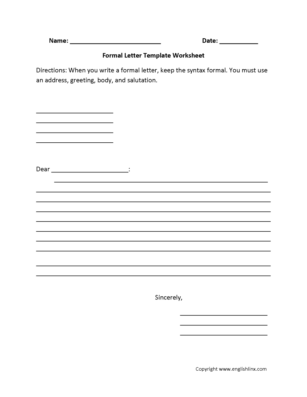 medium resolution of Writing Worksheets   Letter Writing Worksheets