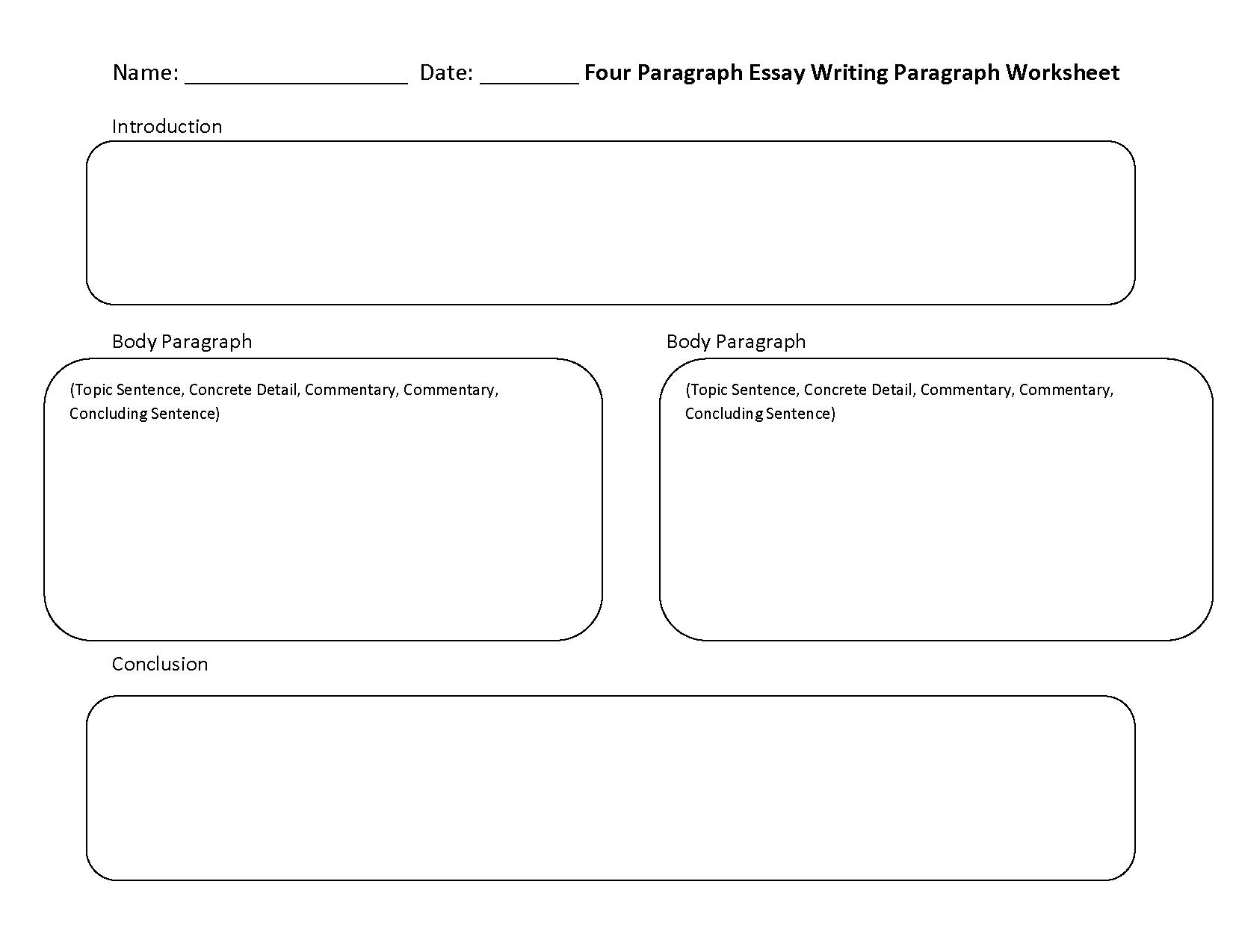 Writing A Paragraph Worksheets Grade 4