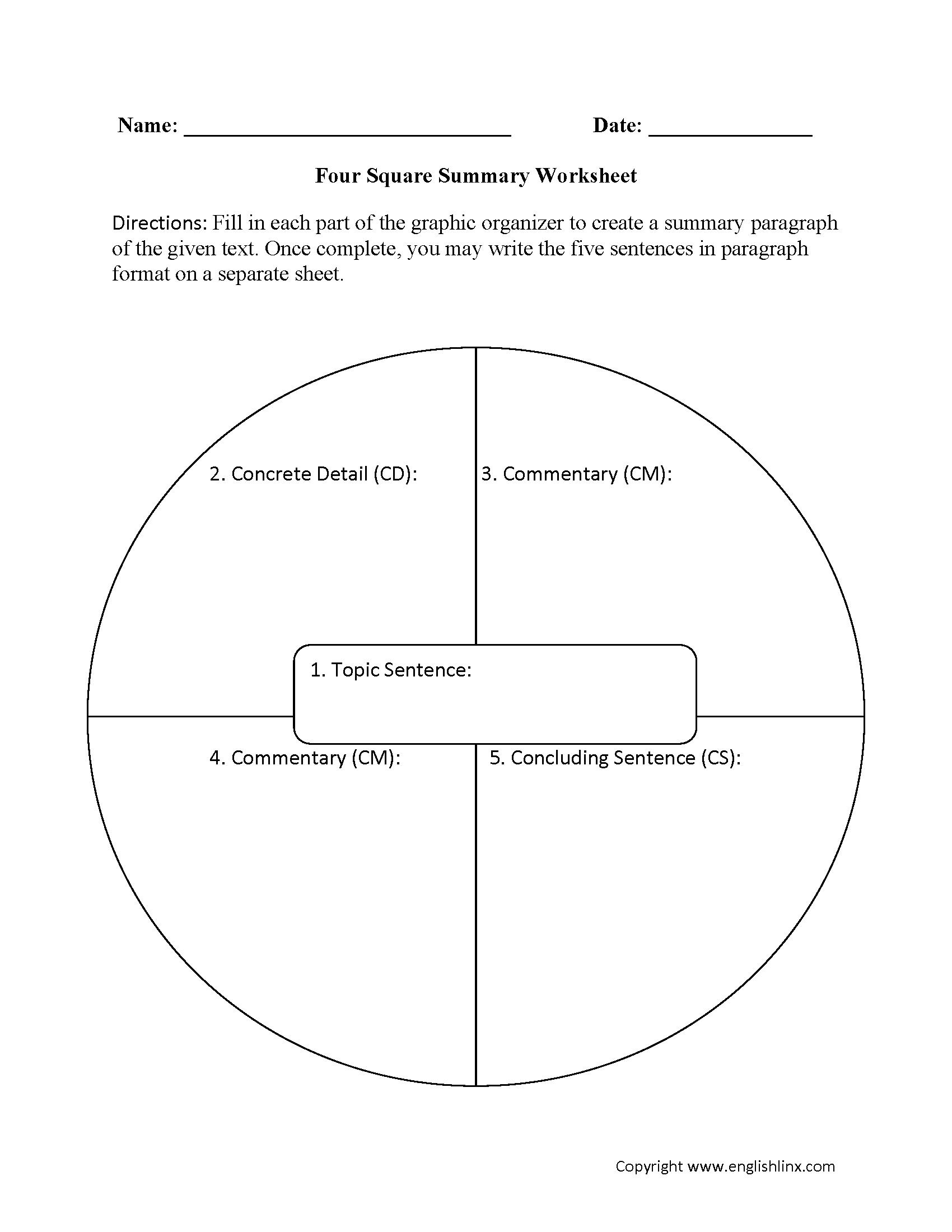 hight resolution of Englishlinx.com   Summary Worksheets