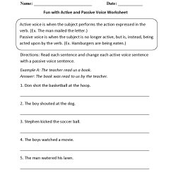 Englishlinx.com   Active and Passive Voice Worksheets [ 1650 x 1275 Pixel ]