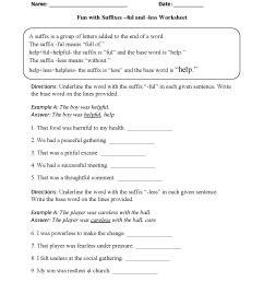 Suffixes Worksheets   Fun with Suffixes -ful and -less Worksheets [ 1662 x 1275 Pixel ]