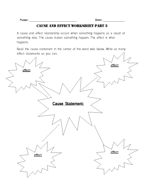 small resolution of Reading Worksheets   Cause and Effect Worksheets