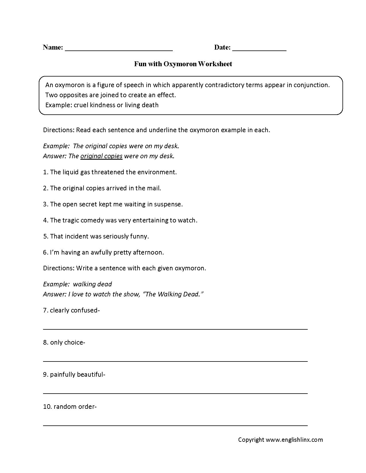 Worksheet Figurative Language Worksheets High School Grass Fedjp Worksheet Study Site