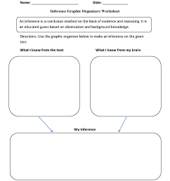 Graphic Organizers Worksheets   Inference Graphic Organizers Worksheets [ 1662 x 1275 Pixel ]