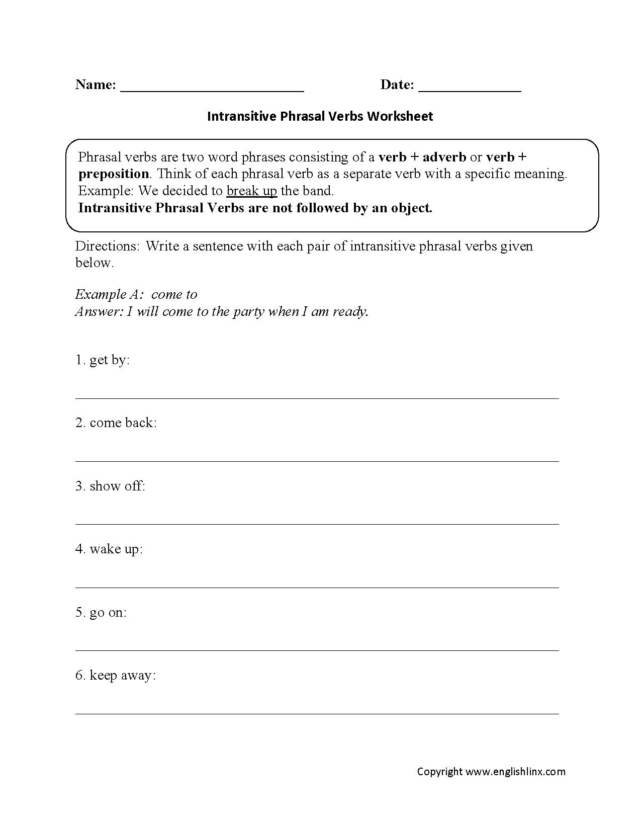 Worksheet On Doing Verbs