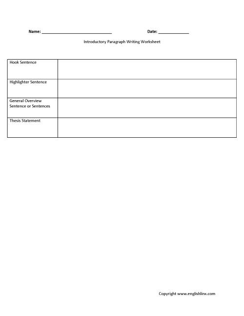 small resolution of Englishlinx.com   Writing Worksheets