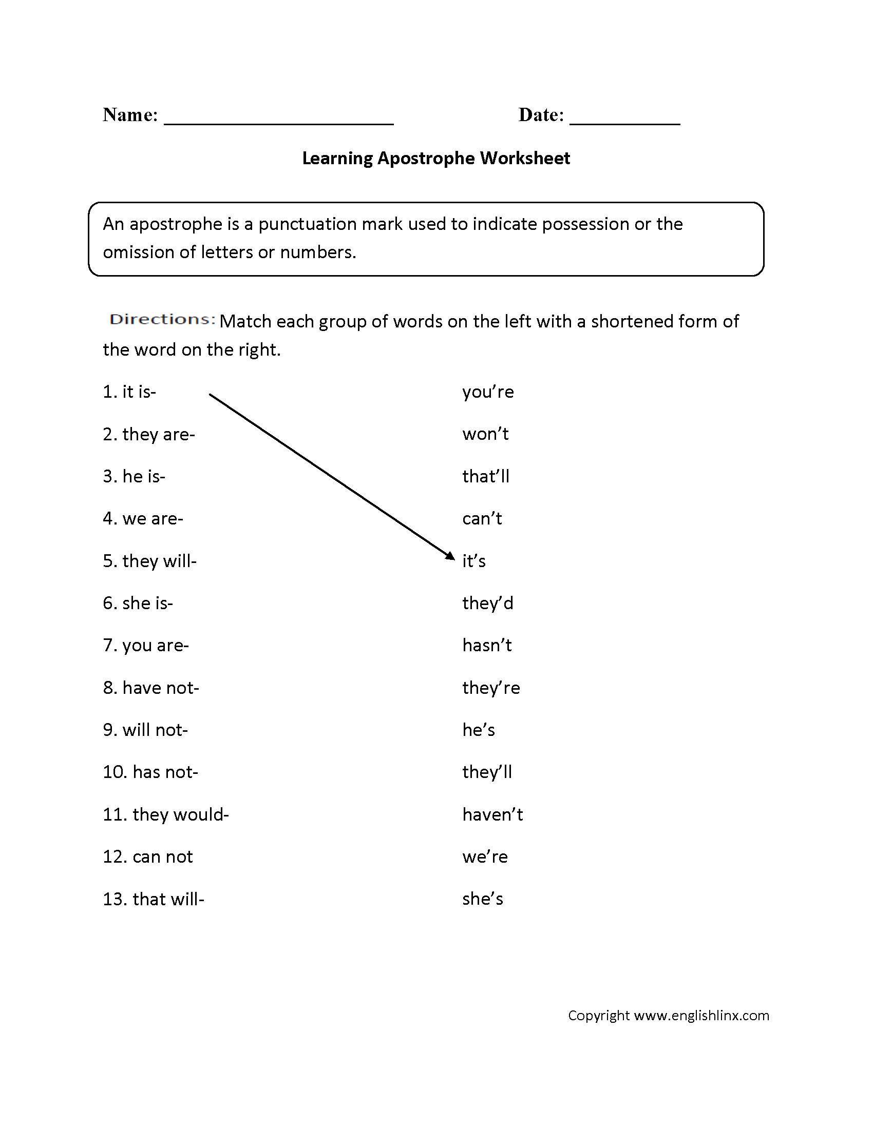 Grammar And Punctuation Worksheets