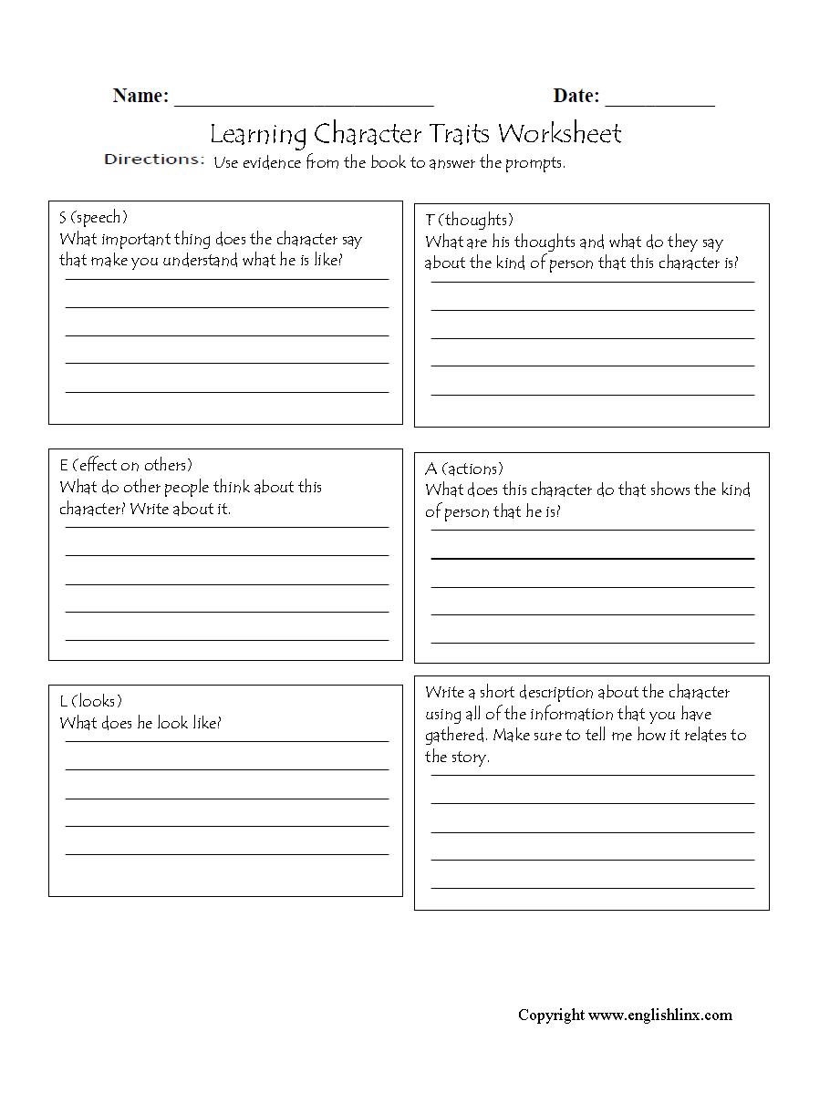 medium resolution of Reading Worksheets   Character Traits Worksheets