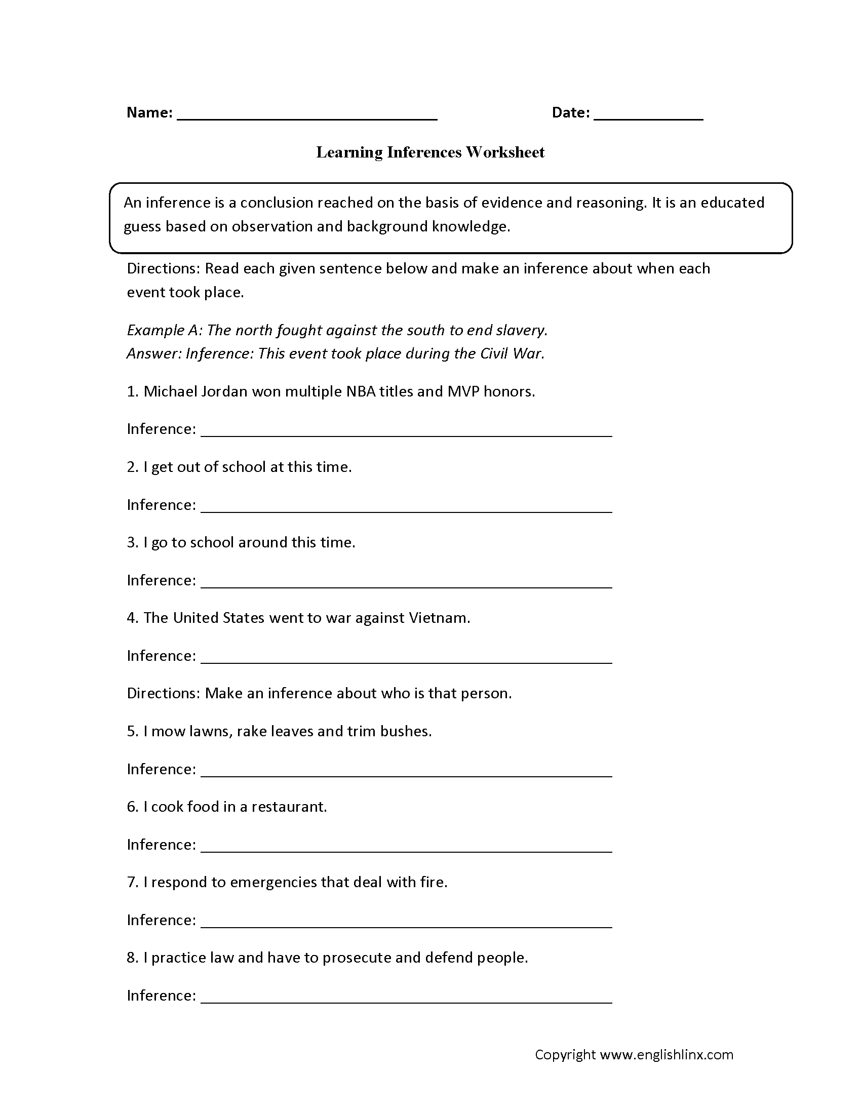 hight resolution of Making Inferences Worksheet 3rd Grade - Promotiontablecovers