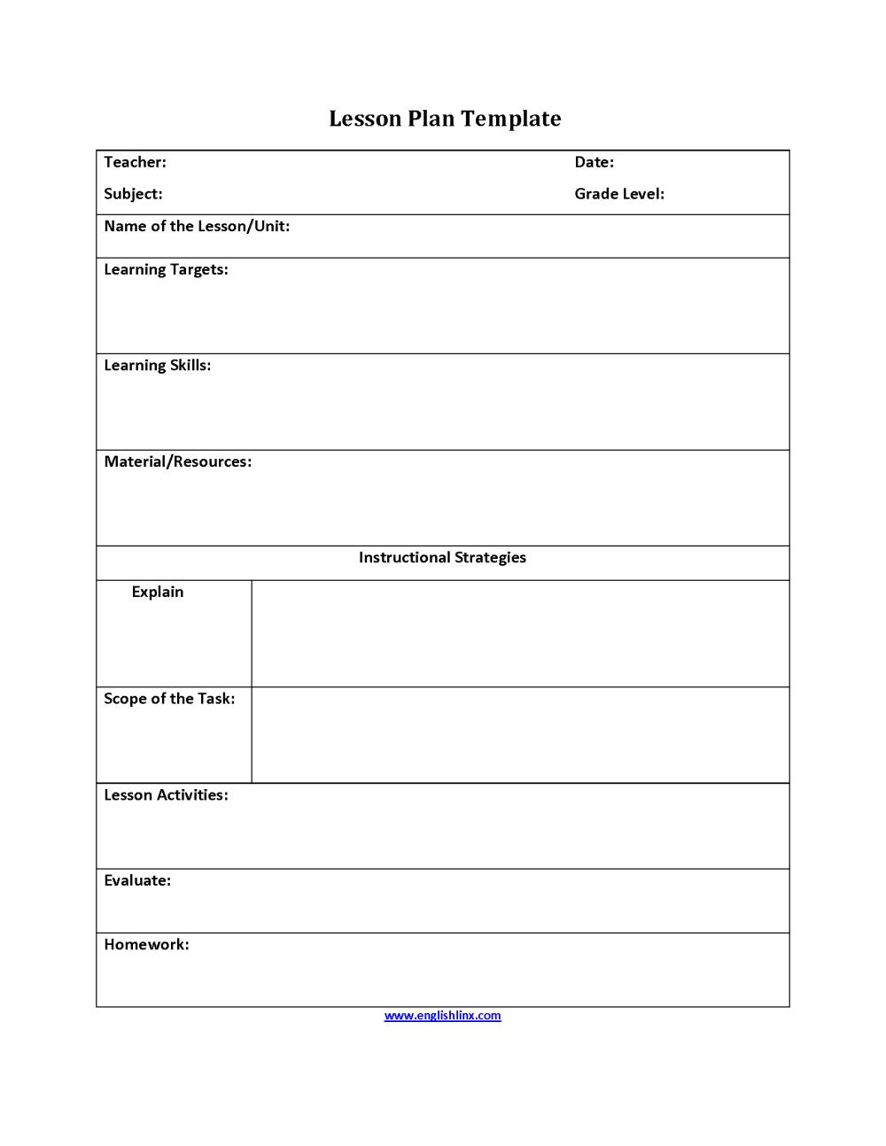 medium resolution of Englishlinx.com   Lesson Plan Template