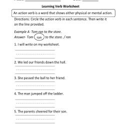 Parts Speech Worksheets   Verb Worksheets [ 1782 x 1301 Pixel ]