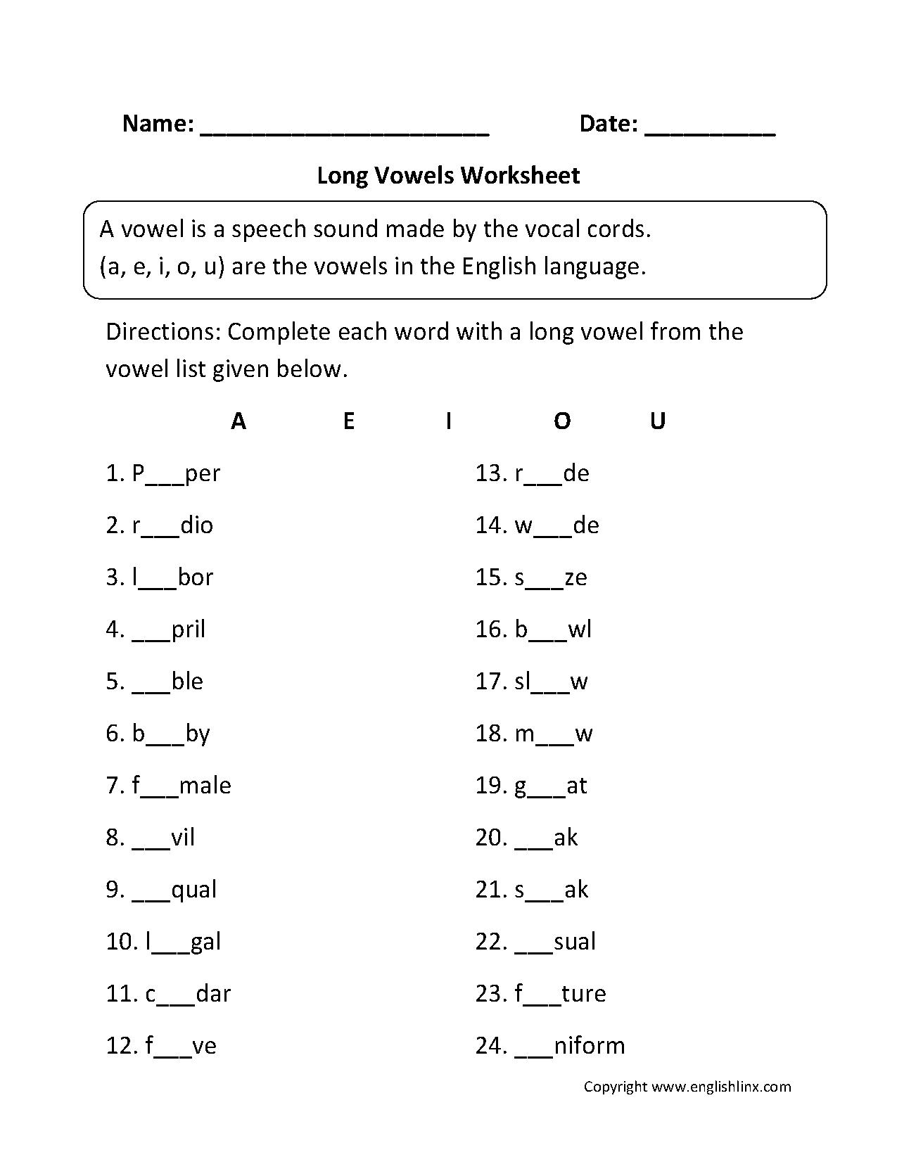 Greetings To Fill In Worksheet
