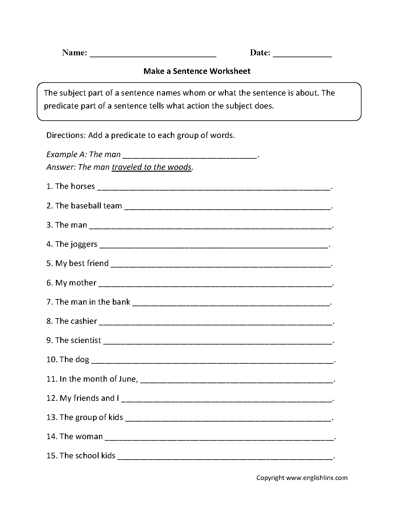 How To Make Worksheet