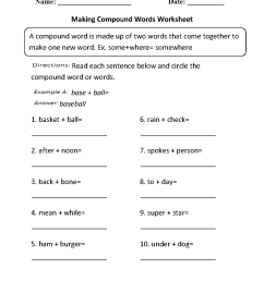 Englishlinx.com   Compound Words Worksheets [ 1342 x 1012 Pixel ]