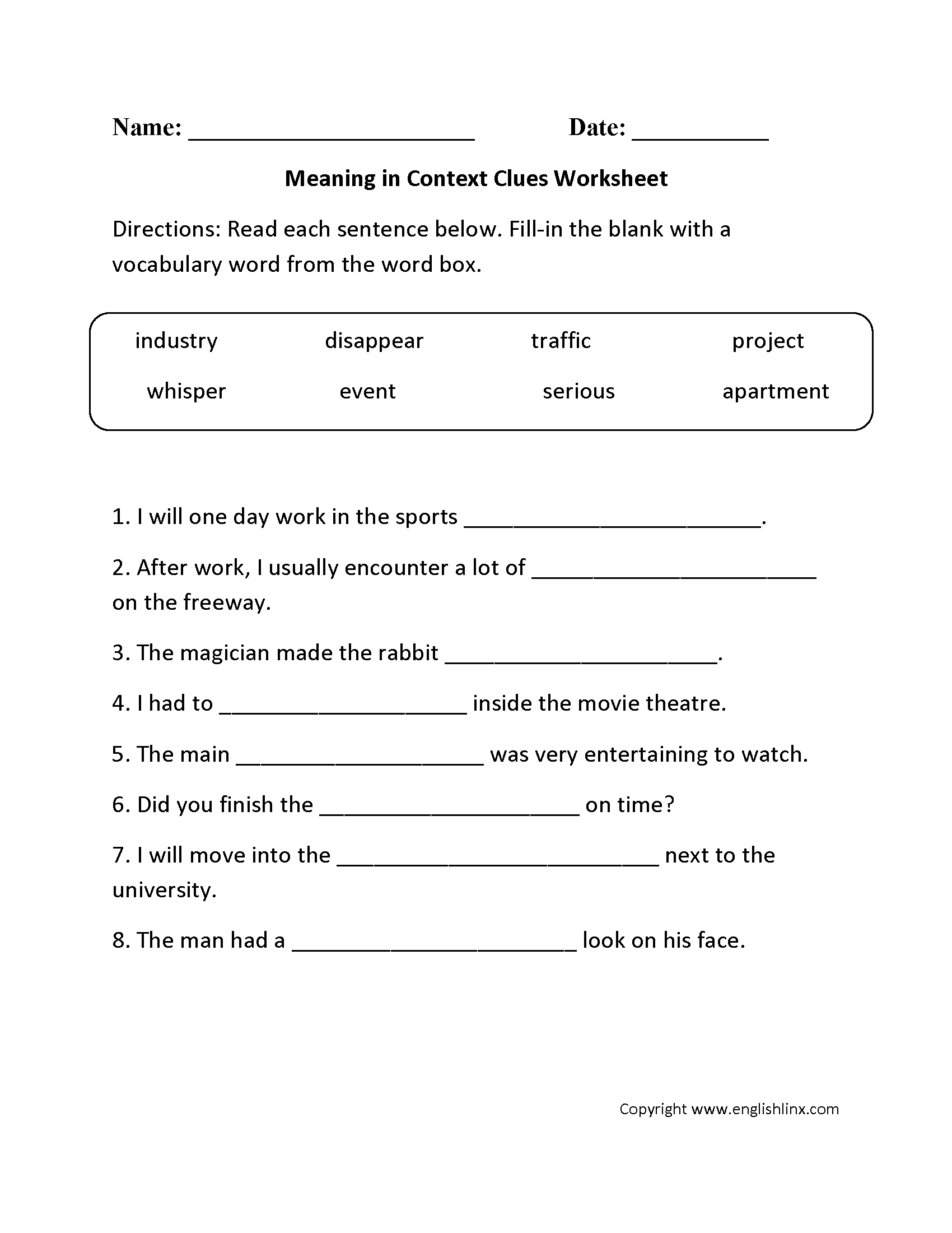 hight resolution of Reading Worksheets   Context Clues Worksheets