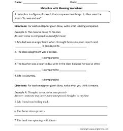 Hyperbole Worksheet   Printable Worksheets and Activities for Teachers [ 2200 x 1700 Pixel ]