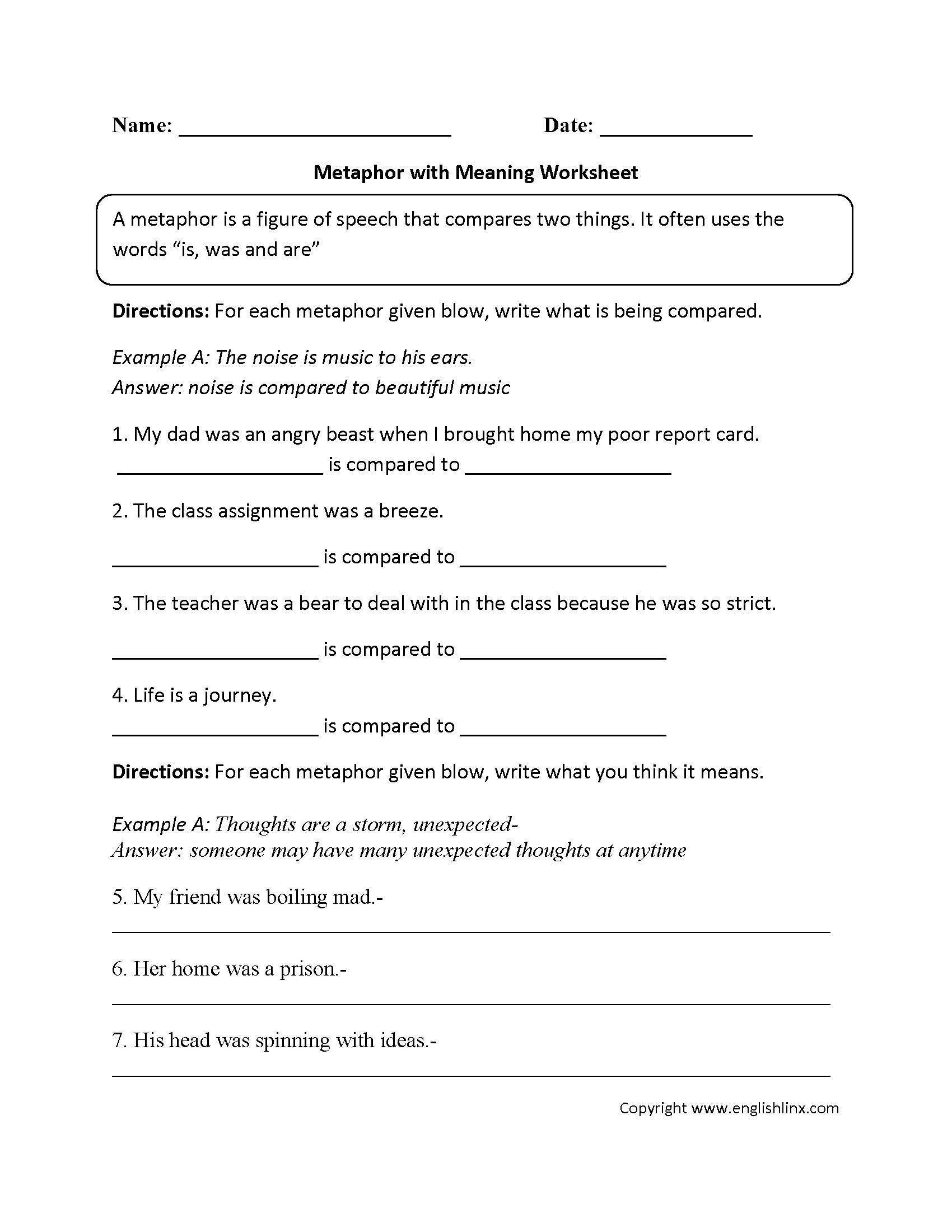 hight resolution of Hyperbole Worksheet   Printable Worksheets and Activities for Teachers