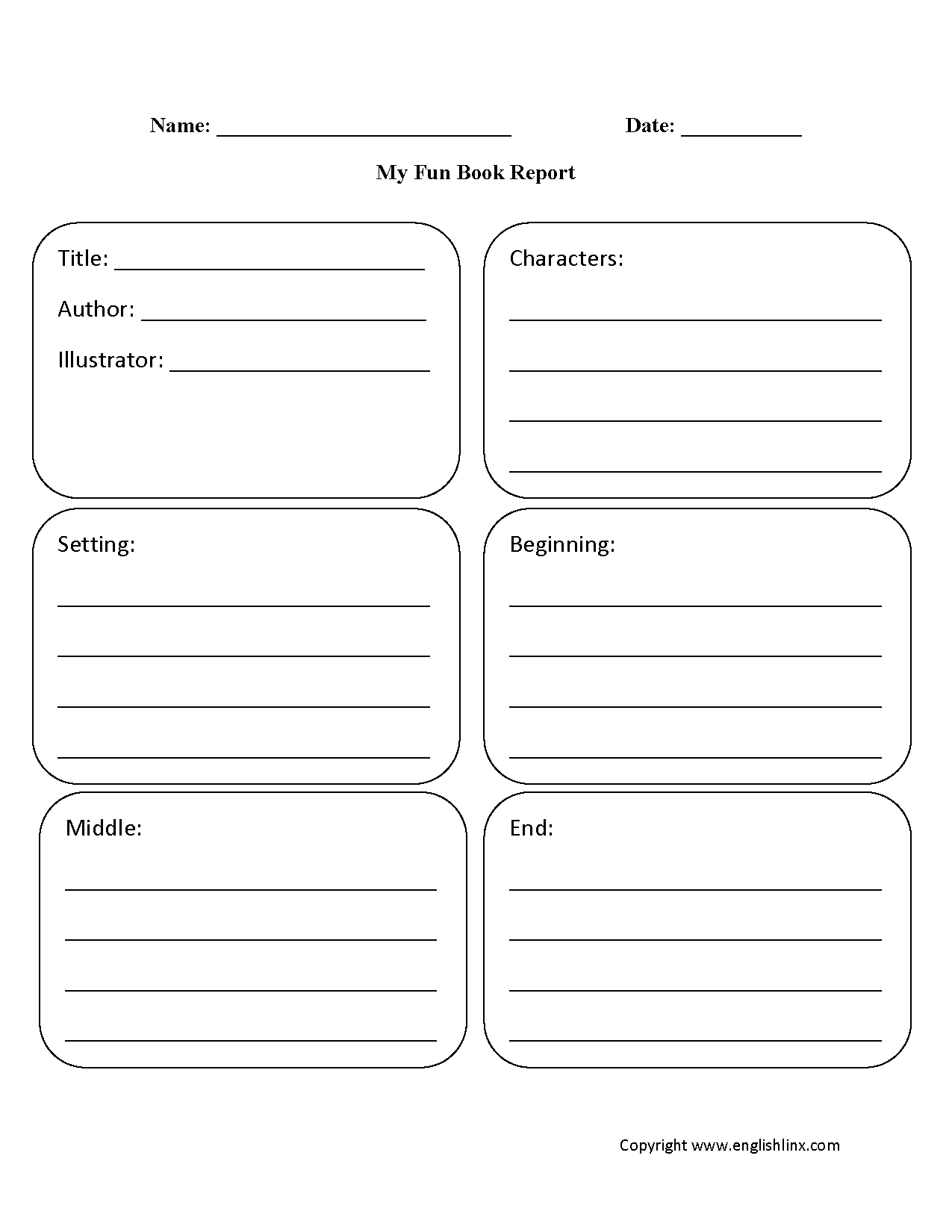 hight resolution of Book Report Worksheets   My Fun Book Report Worksheet