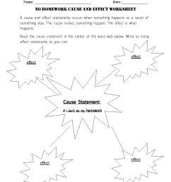Reading Worksheets   Cause and Effect Worksheets [ 1166 x 884 Pixel ]