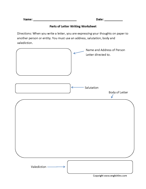 small resolution of Letter Writing Worksheets   Parts of Letter Writing Worksheets