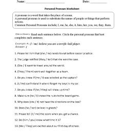 Parts Speech Worksheets   Pronoun Worksheets [ 1188 x 910 Pixel ]